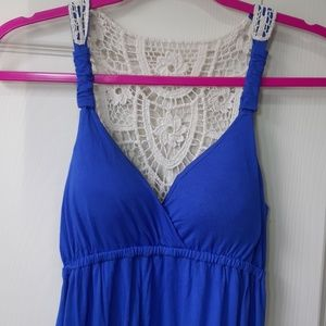 Blue Long Maxi Dress